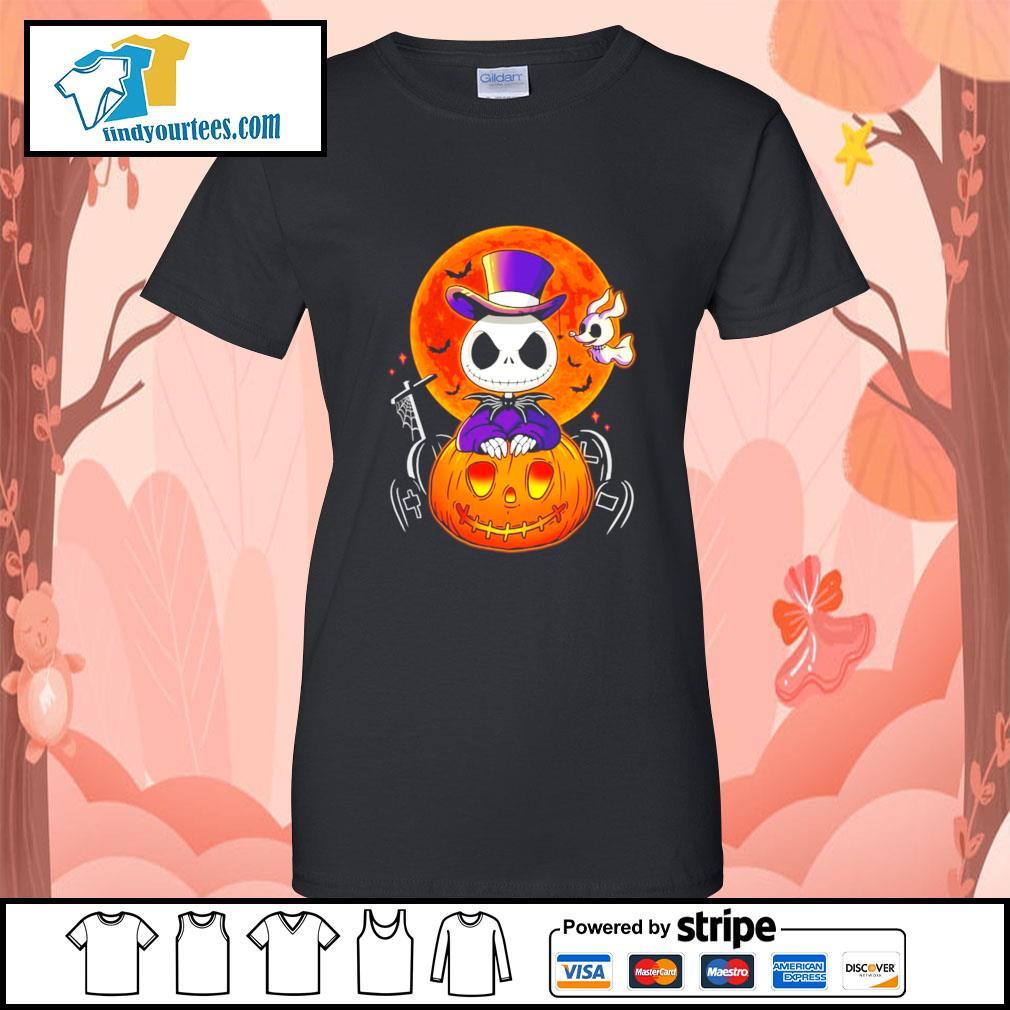 Jack Skellington and Zero pumpkin Halloween s Ladies-Tee