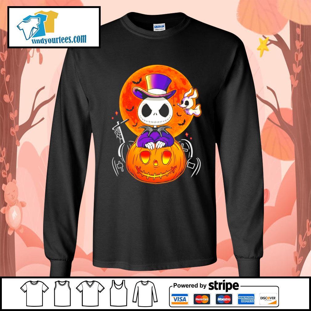 Jack Skellington and Zero pumpkin Halloween s Long-Sleeves-Tee
