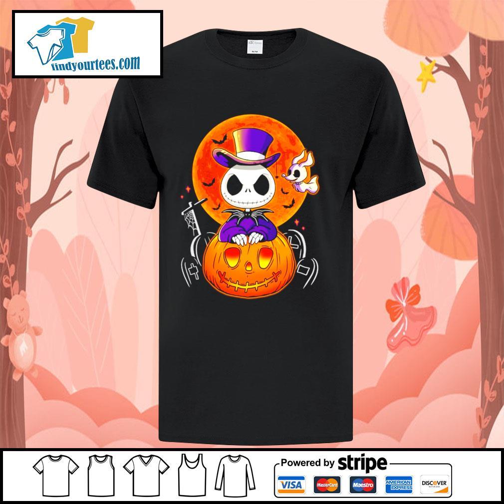 Jack Skellington and Zero pumpkin Halloween shirt
