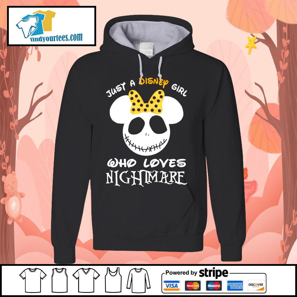 Jack Skellington face just a Disney girl who loves nightmare s Hoodie