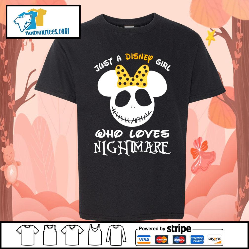 Jack Skellington face just a Disney girl who loves nightmare s Kid-T-shirt
