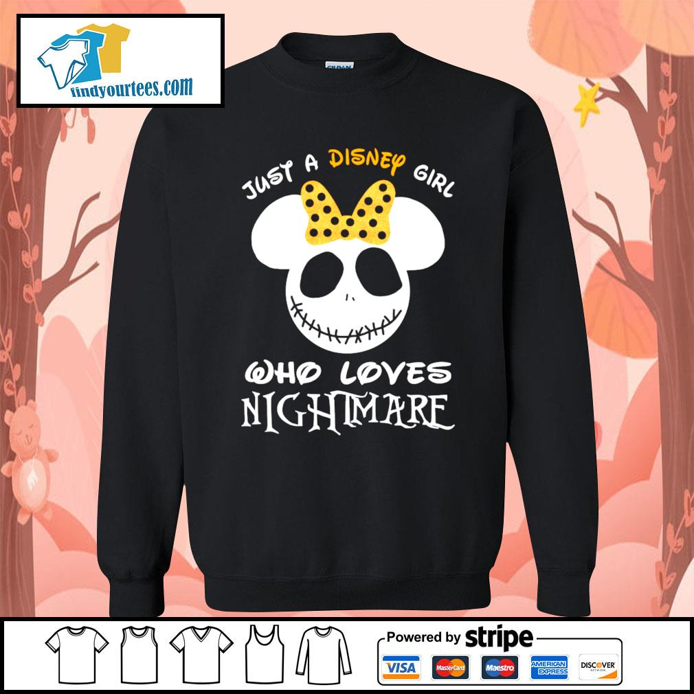 Jack Skellington face just a Disney girl who loves nightmare s Sweater