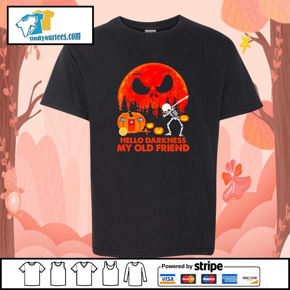 Jack Skellington hello darkness my old friend Halloween s Kid-T-shirt