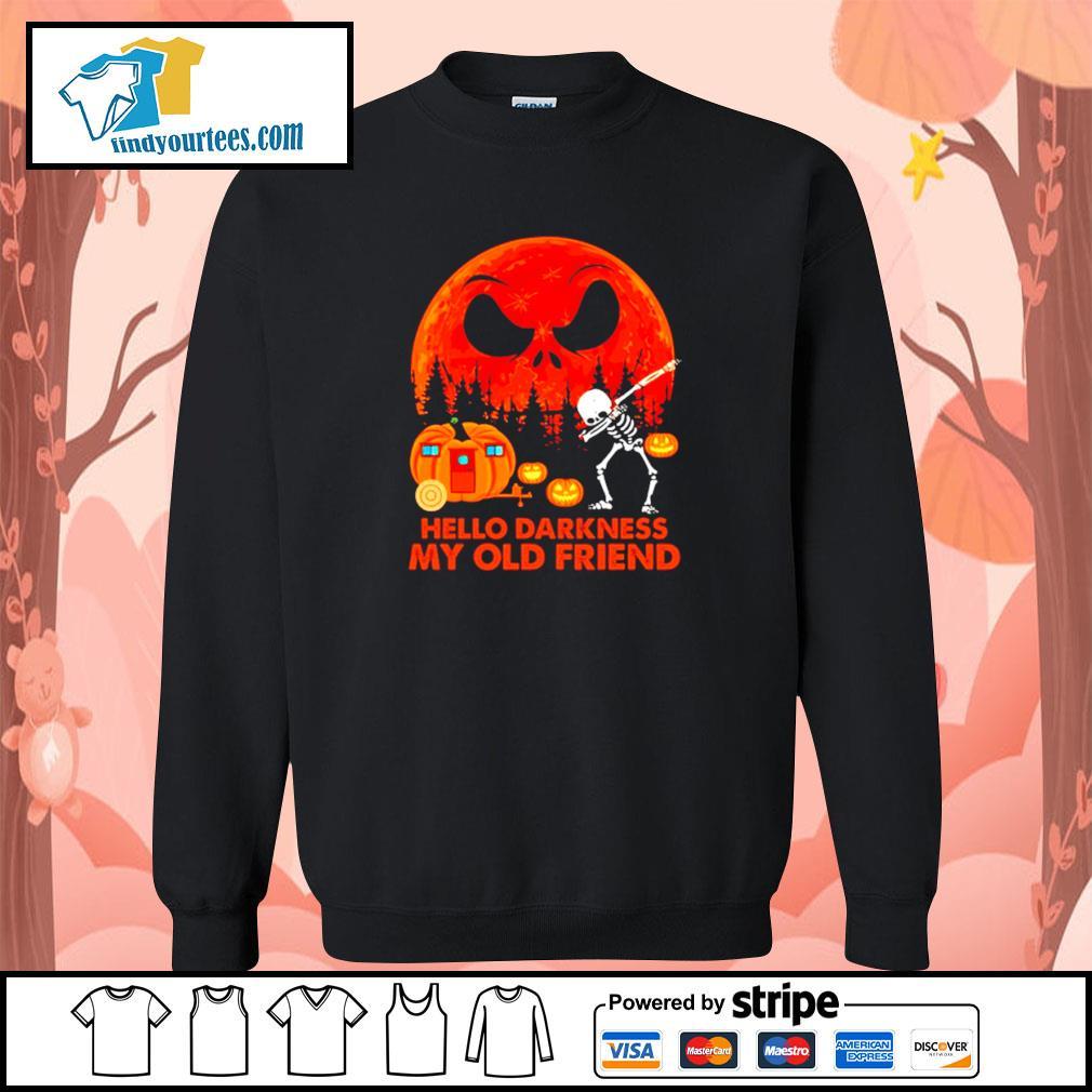 Jack Skellington hello darkness my old friend Halloween s Sweater