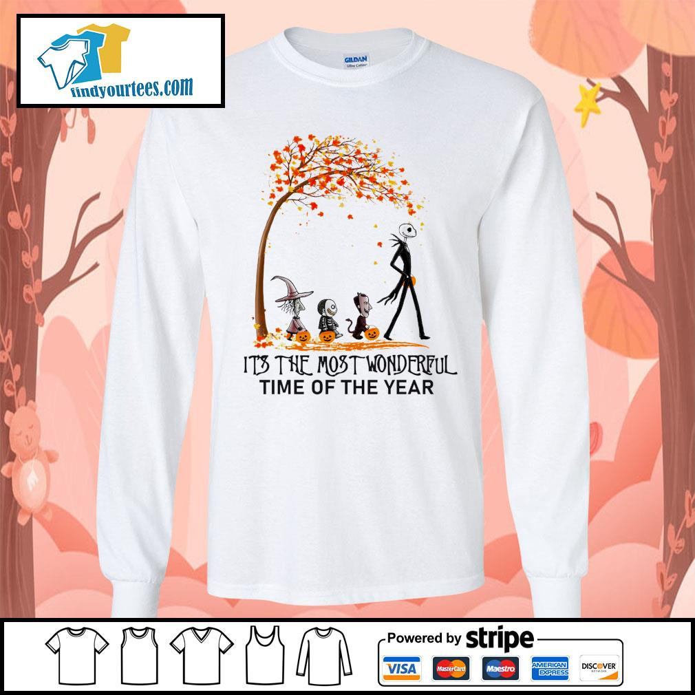 Jack Skellington it's the most wonderful time of the year Halloween s Long-Sleeves-Tee
