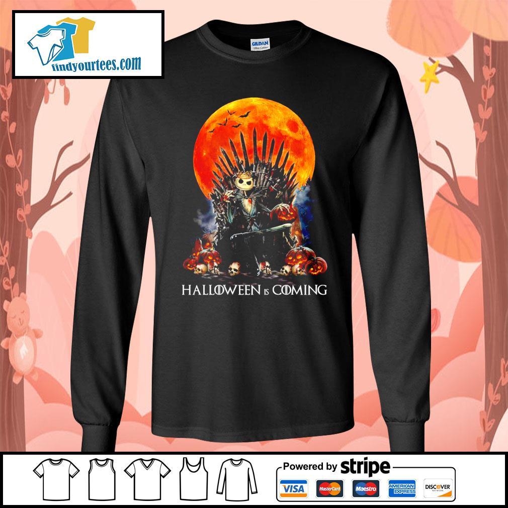 Jack Skellington king Halloween is coming GOT s Long-Sleeves-Tee
