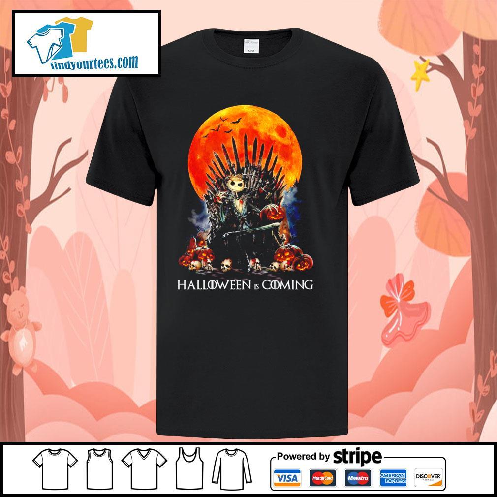 Jack Skellington king Halloween is coming GOT shirt