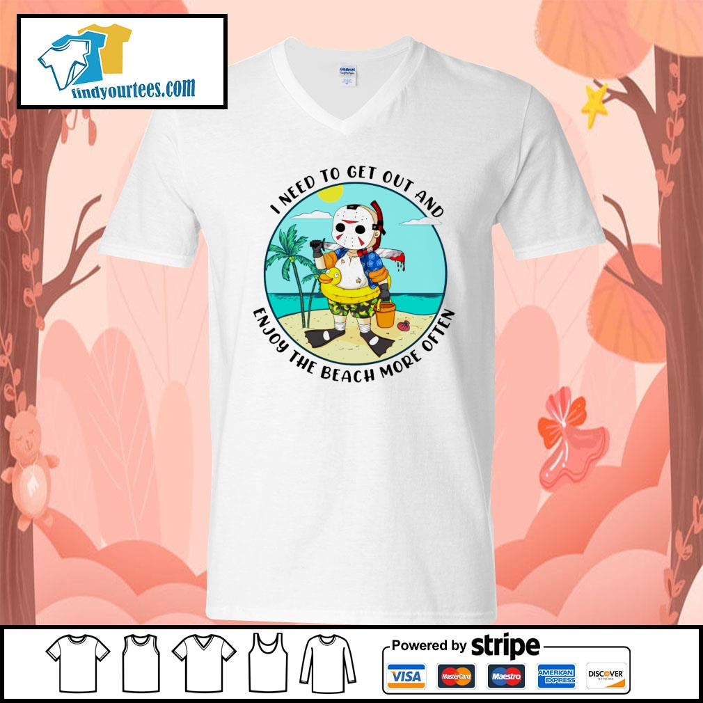Jason Voorhees I need to get out and enjoy the beach more often s V-neck-T-shirt