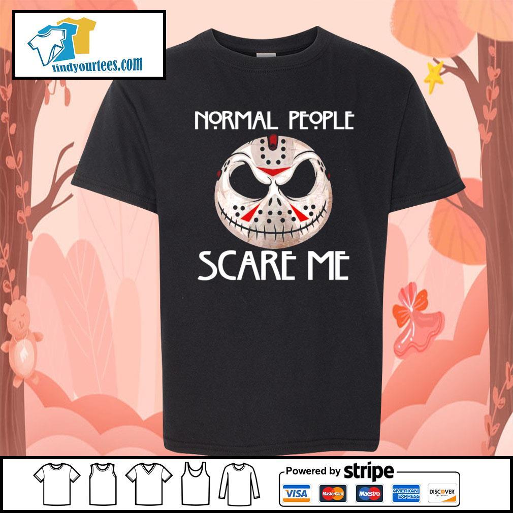 Jason Voorhees normal people scare me s Kid-T-shirt