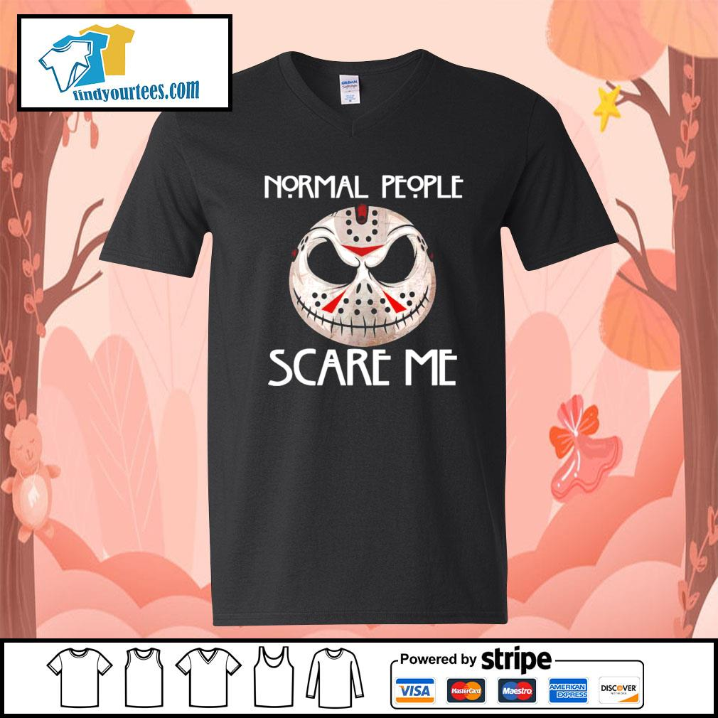 Jason Voorhees normal people scare me s V-neck-T-shirt