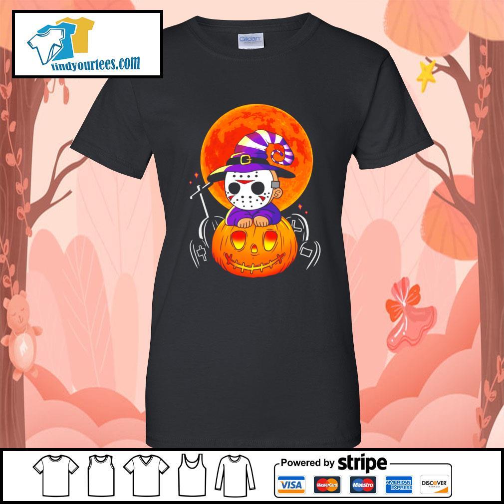 Jason Voorhees pumpkin Halloween s Ladies-Tee