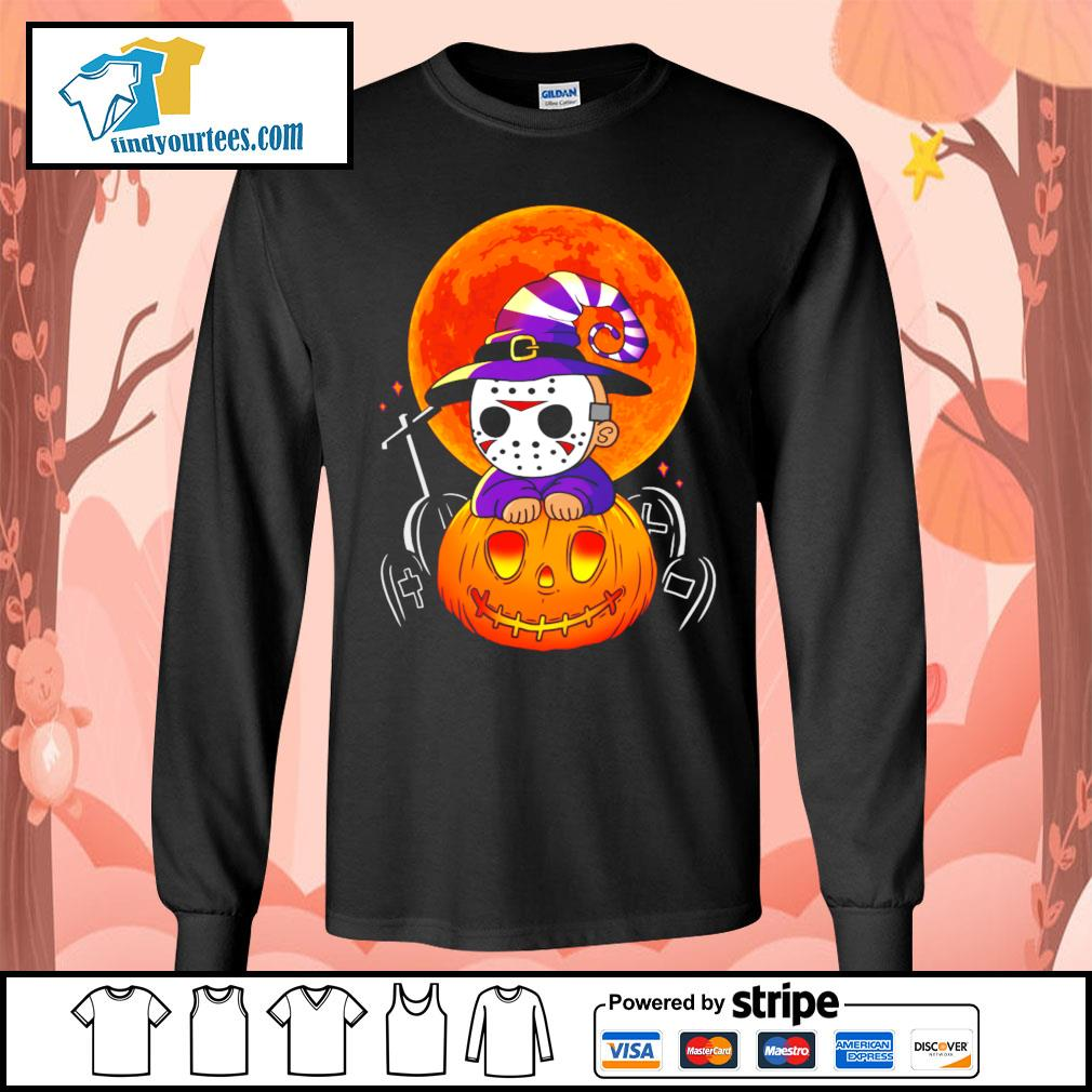 Jason Voorhees pumpkin Halloween s Long-Sleeves-Tee