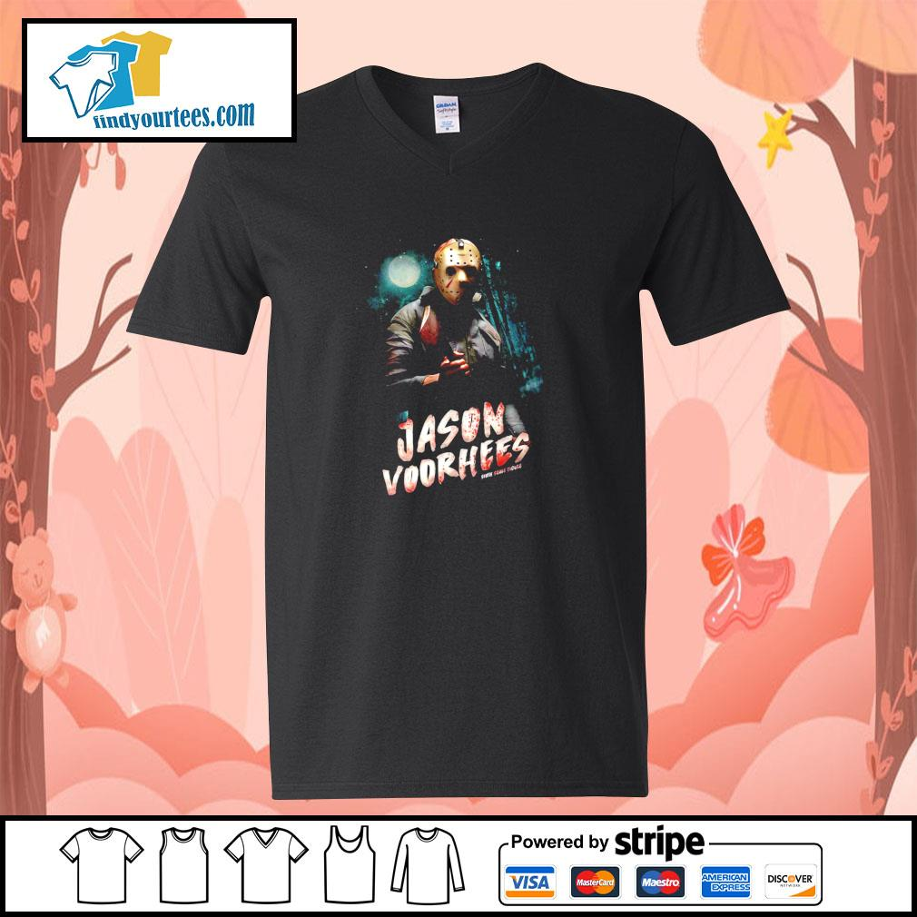 Jason voorhees sixth scale figure midnight s v-neck-t-shirt
