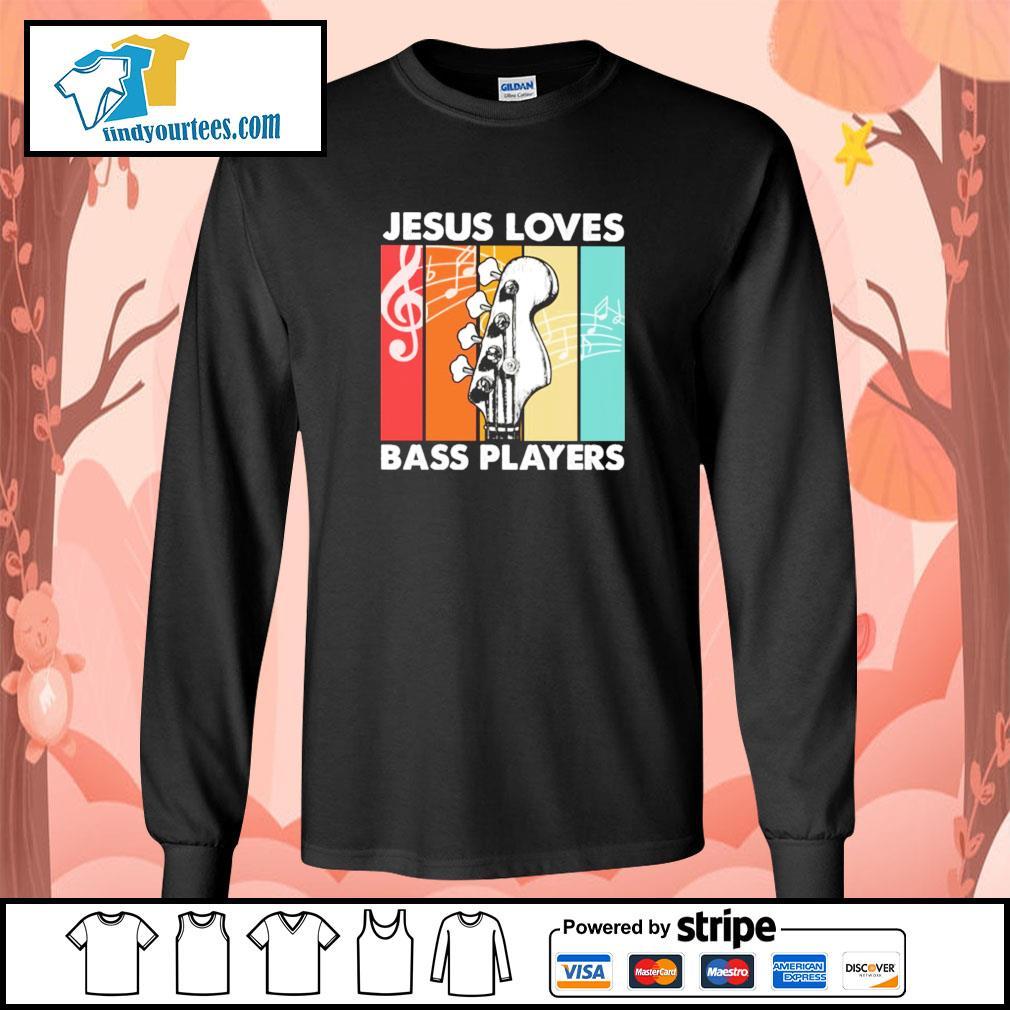 Jesus loves bass players vintage s longsleeve-tee