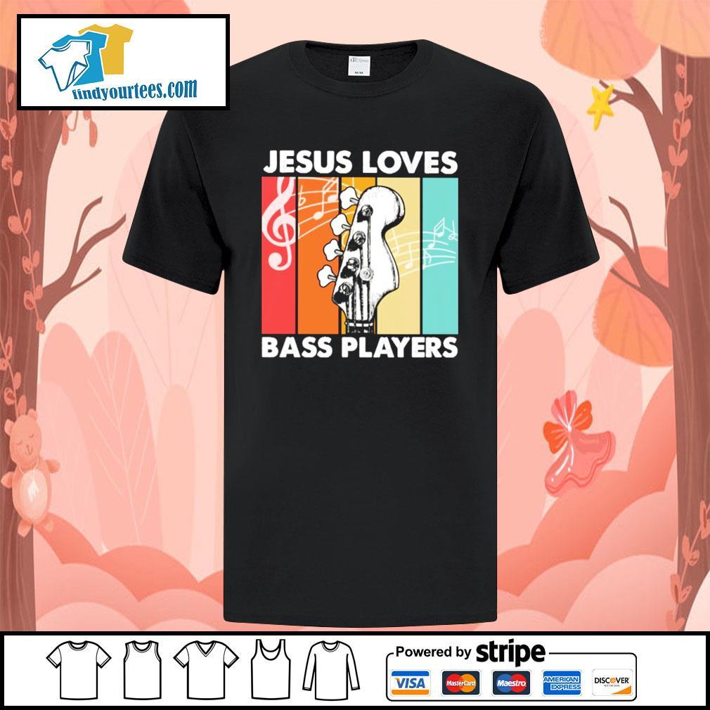 Jesus loves bass players vintage shirt