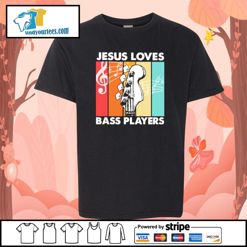 Jesus loves bass players vintage s youth-tee