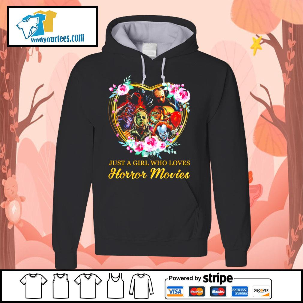 Just a girl who loves Horror movies character s Hoodie