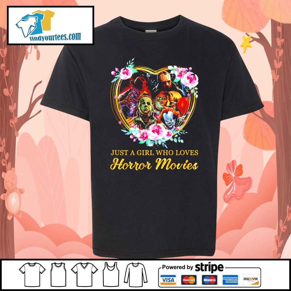 Just a girl who loves Horror movies character s Kid-T-shirt