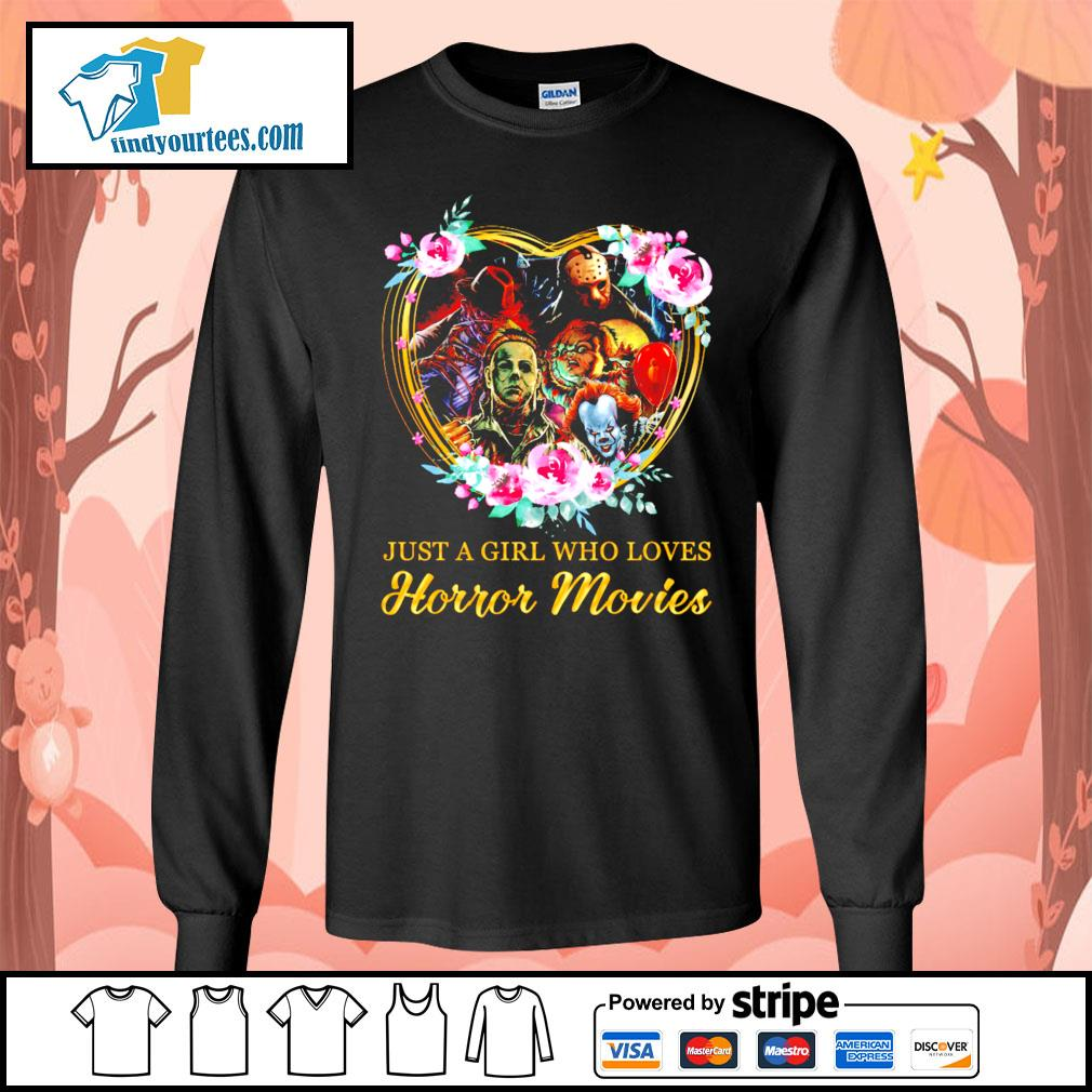 Just a girl who loves Horror movies character s Long-Sleeves-Tee