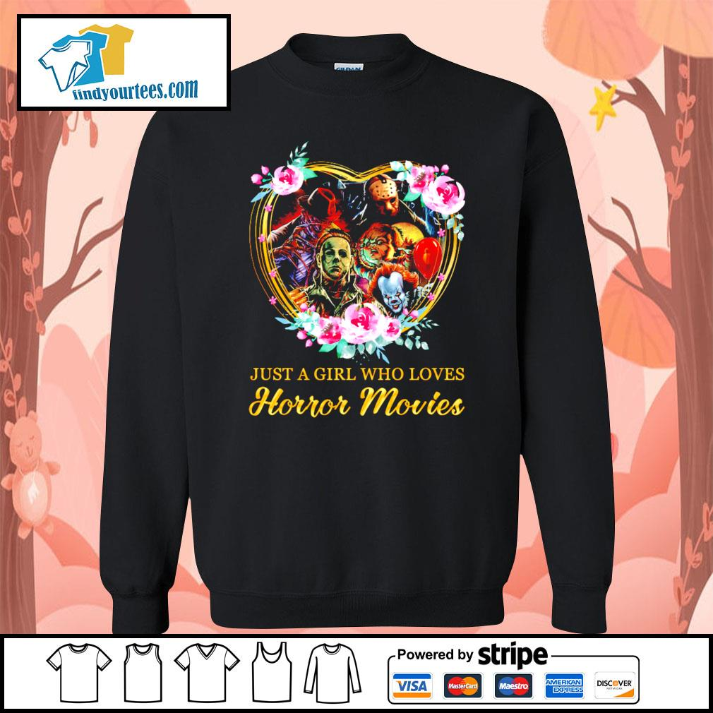Just a girl who loves Horror movies character s Sweater