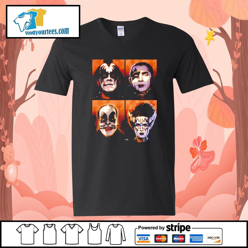 KISS Monsters Horror movie s V-neck-T-shirt
