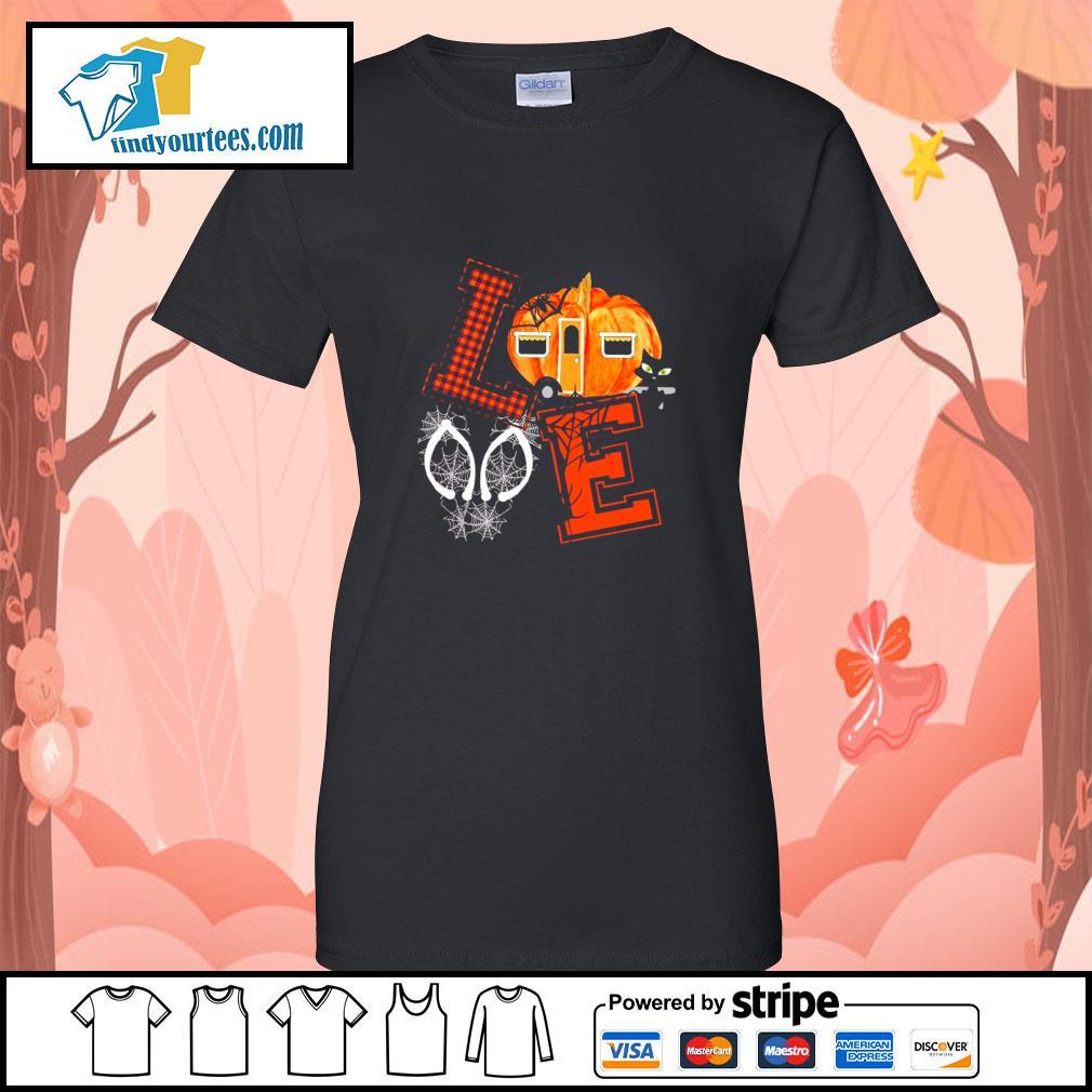 Love halloween pumpkin s ladies-tee