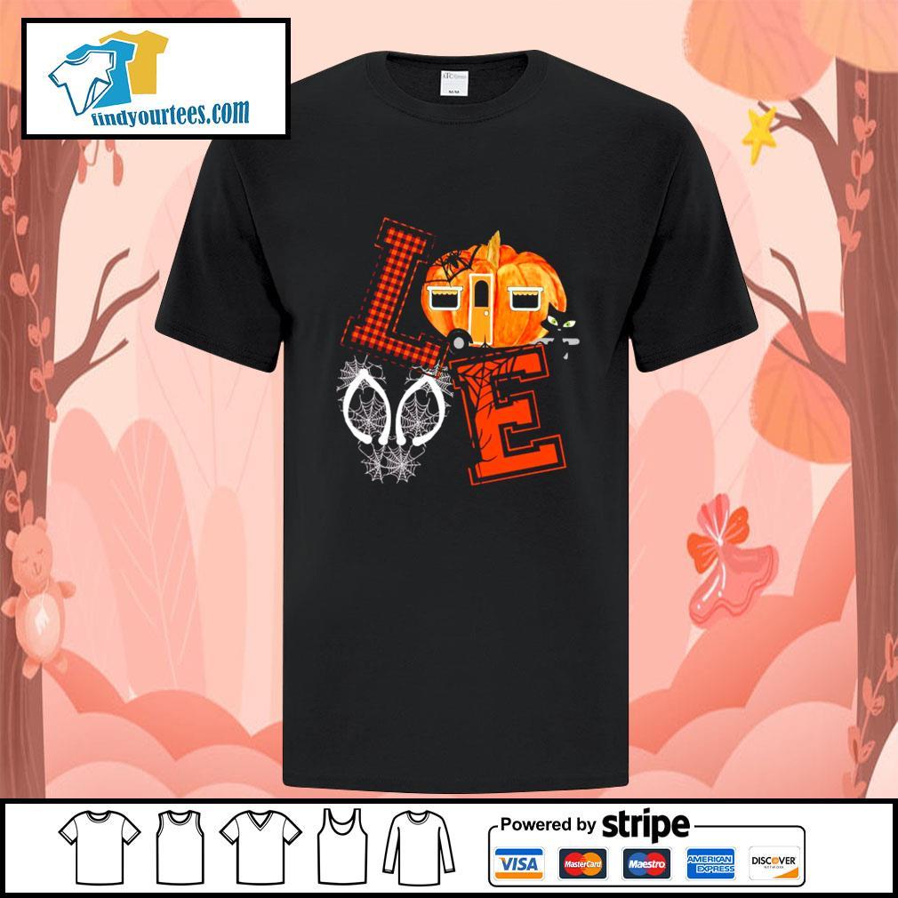 Love halloween pumpkin shirt