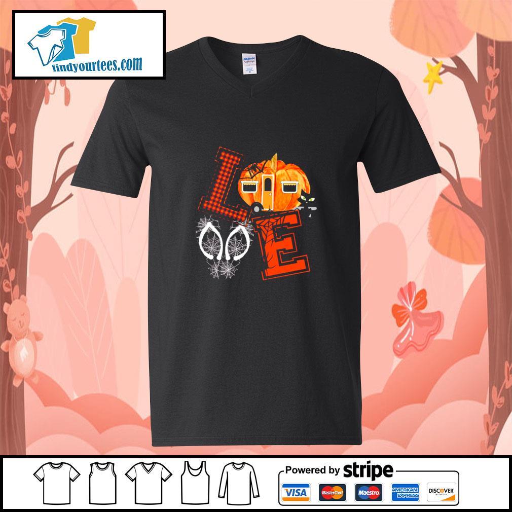 Love halloween pumpkin s v-neck-t-shirt