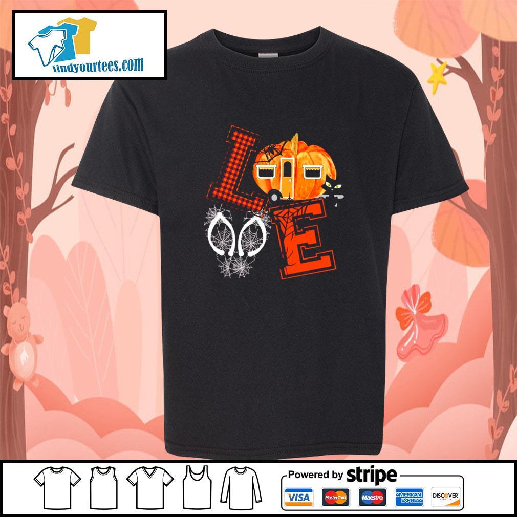 Love halloween pumpkin s youth-tee