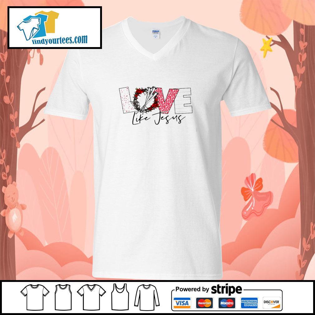 Love life jesus s v-neck-t-shirt