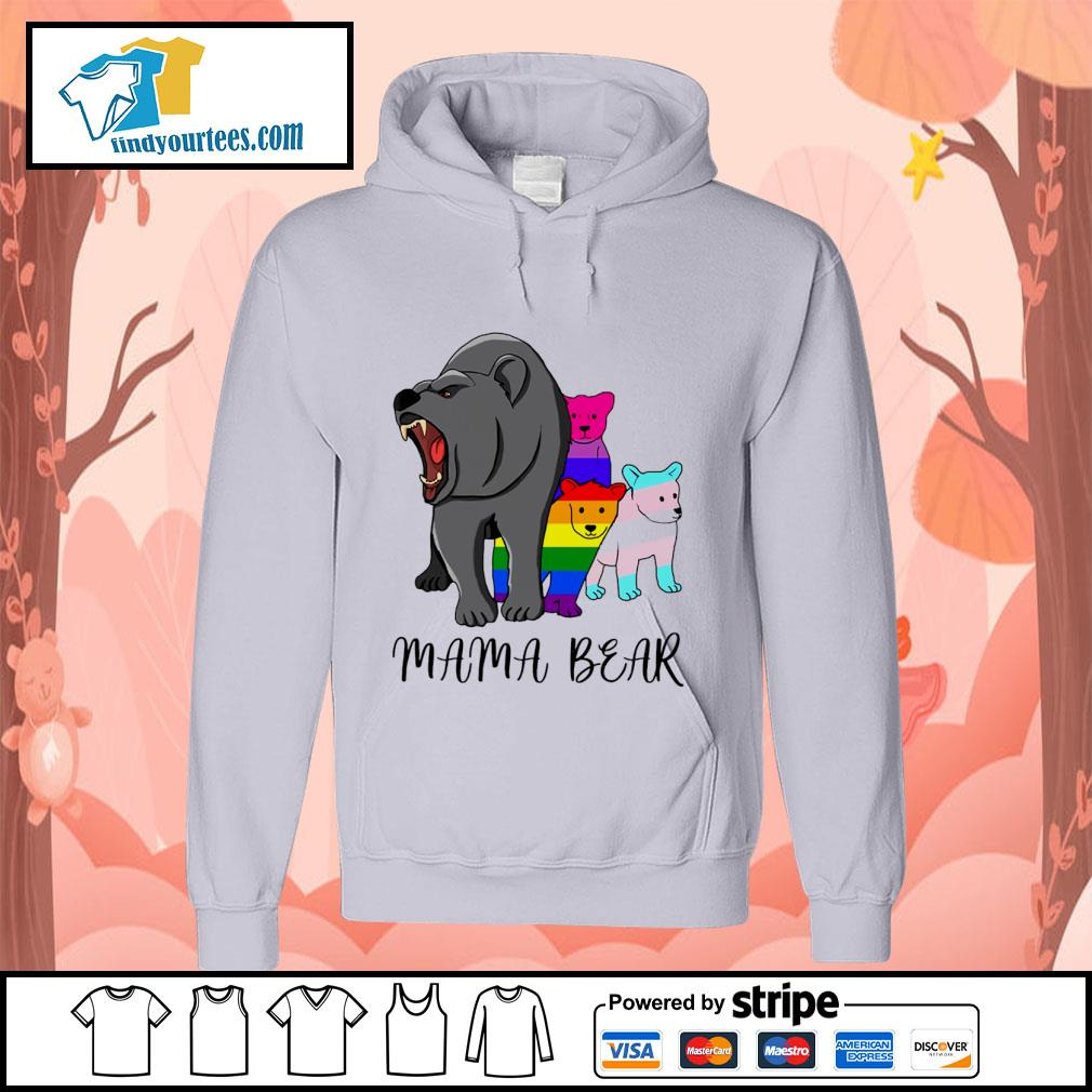 Mama bear lesbian gay bisexual son s hoodie