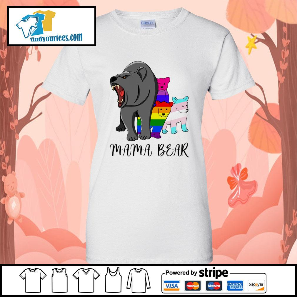 Mama bear lesbian gay bisexual son s ladies-tee