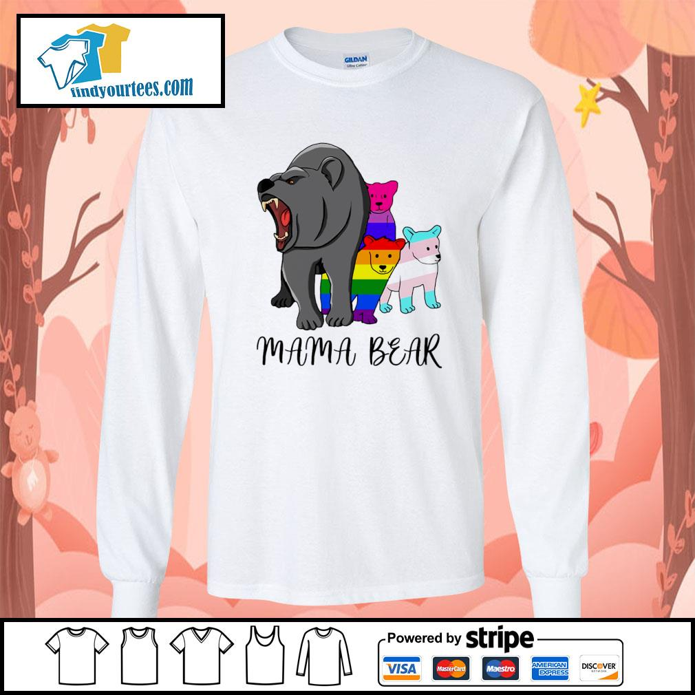 Mama bear lesbian gay bisexual son s longsleeve-tee