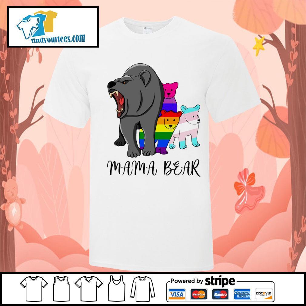 Mama bear lesbian gay bisexual son shirt