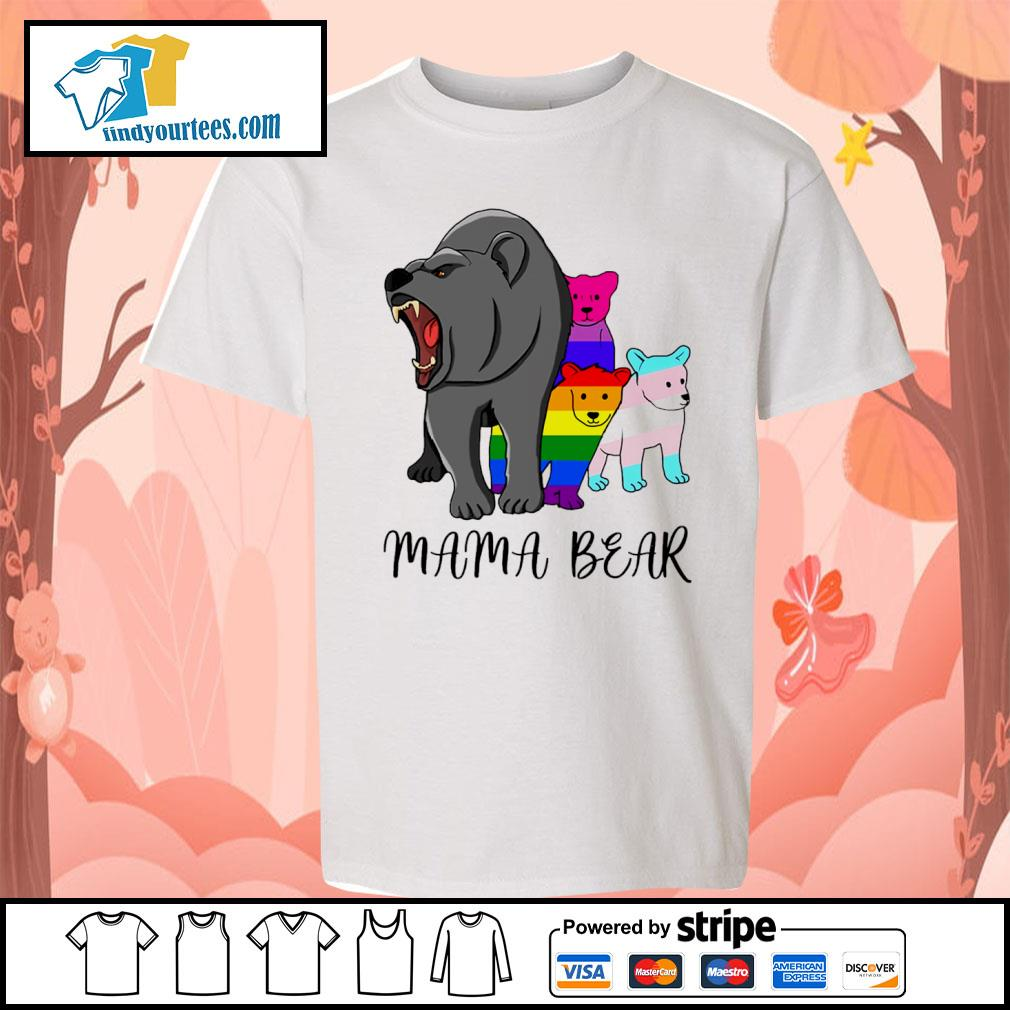Mama bear lesbian gay bisexual son s youth-tee