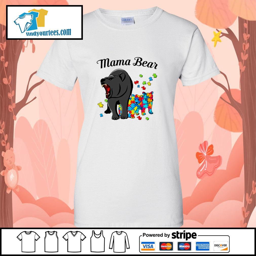 Mama bear protect child autism s ladies-tee