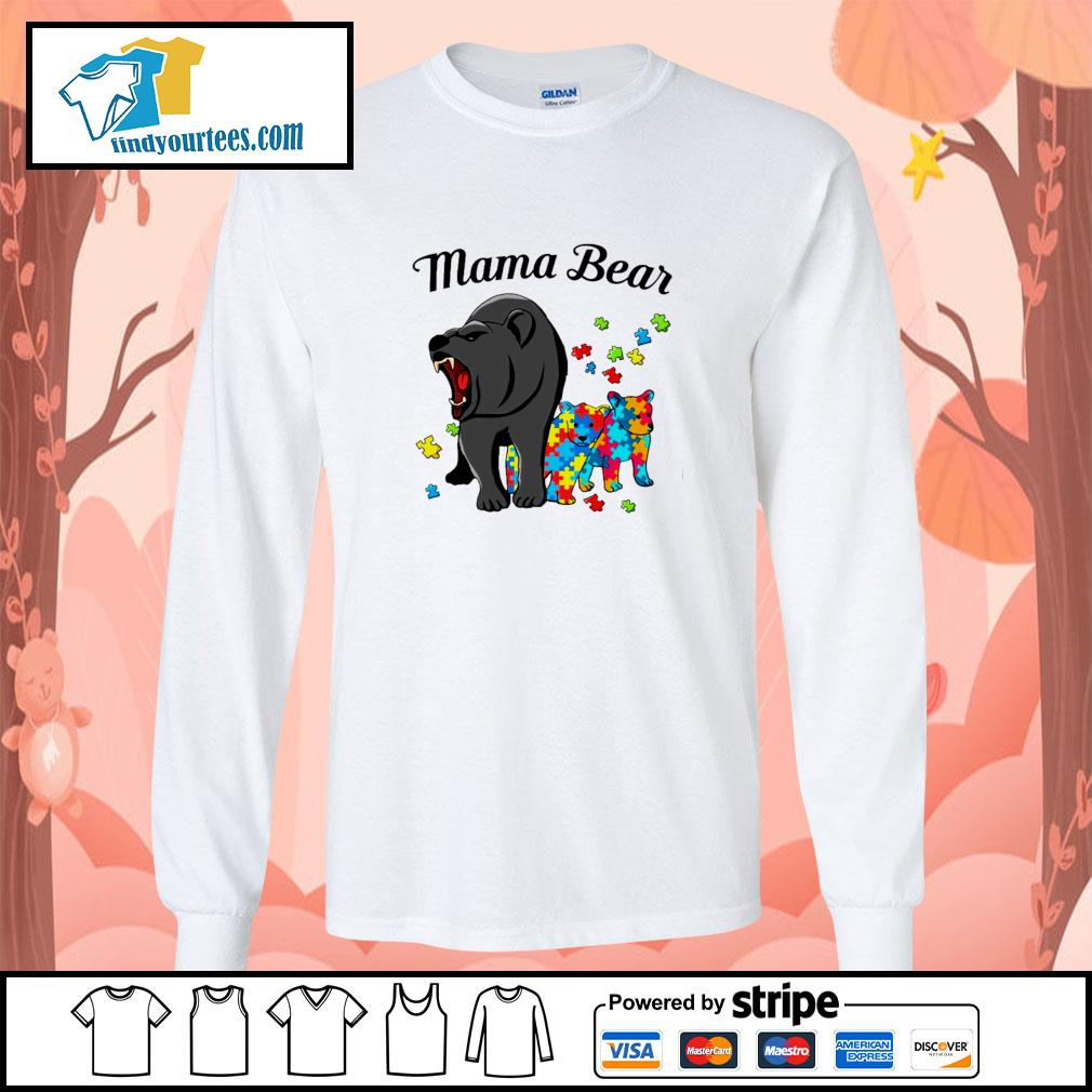 Mama bear protect child autism s longsleeve-tee