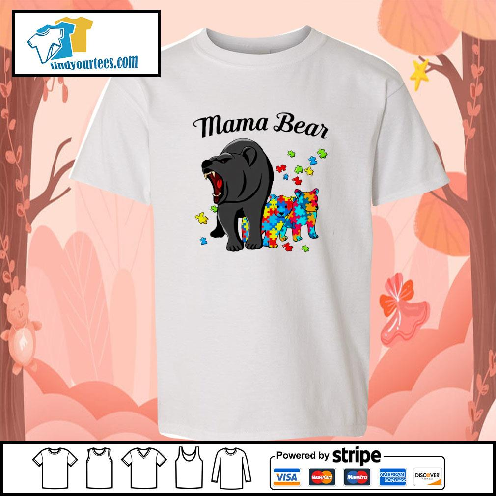 Mama bear protect child autism s youth-tee