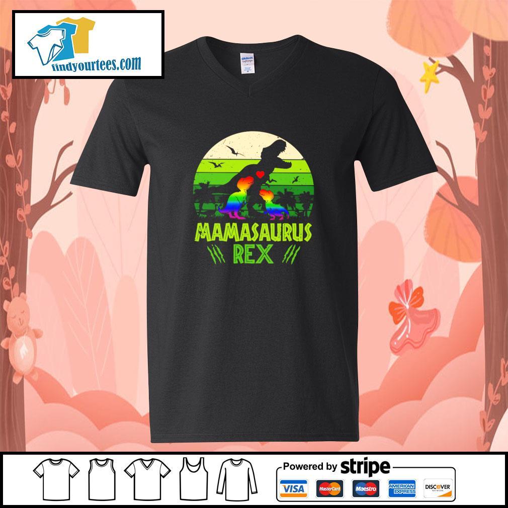 Mamasaurus rex green LGBT s v-neck-t-shirt