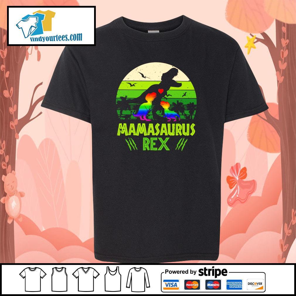 Mamasaurus rex green LGBT s youth-tee