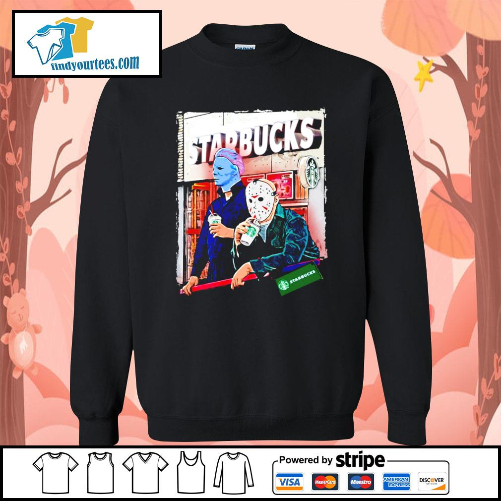 Michael Myers and Jason Voorhees drink Starbucks s Sweater