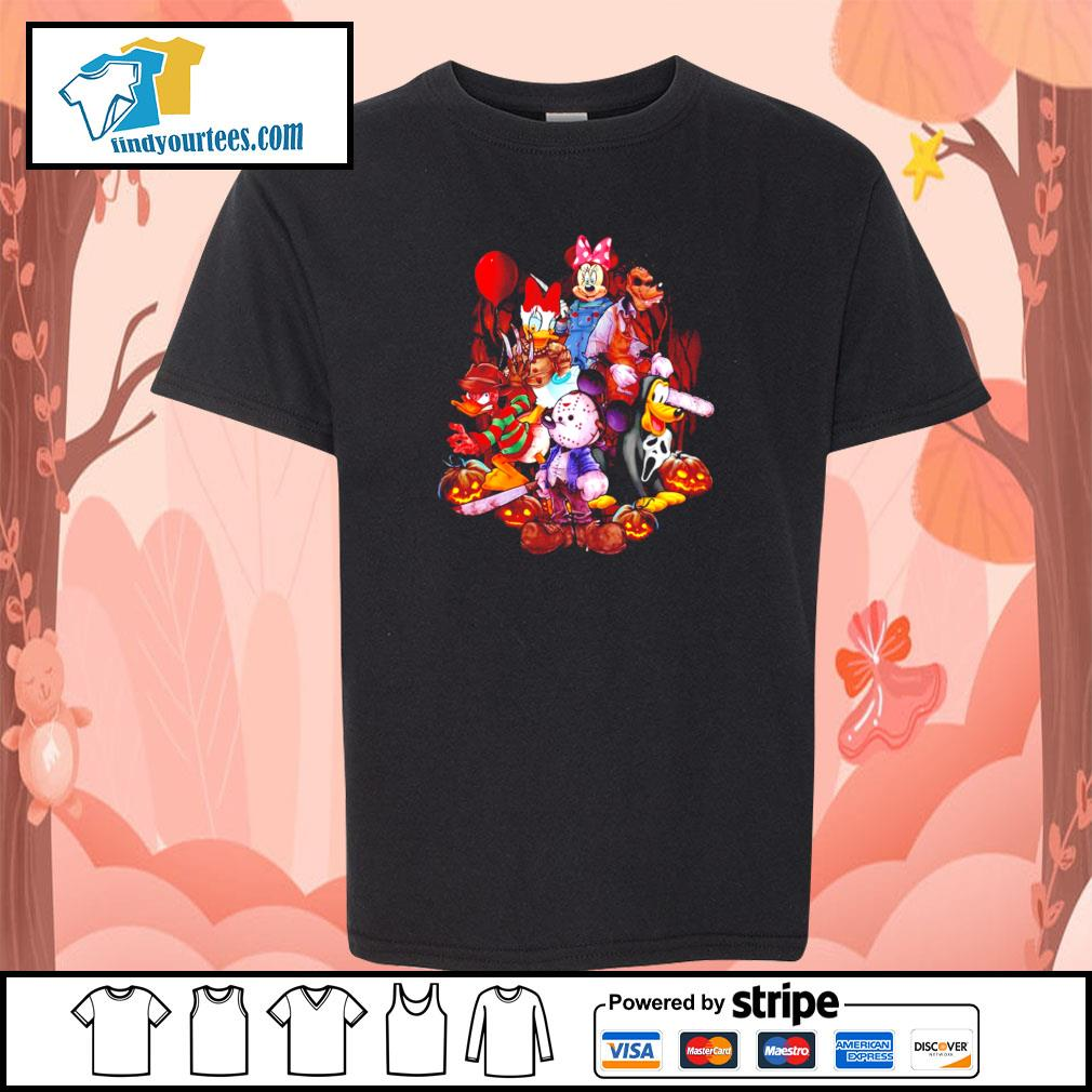 Mickey mouse movie horror character halloween s youth-tee
