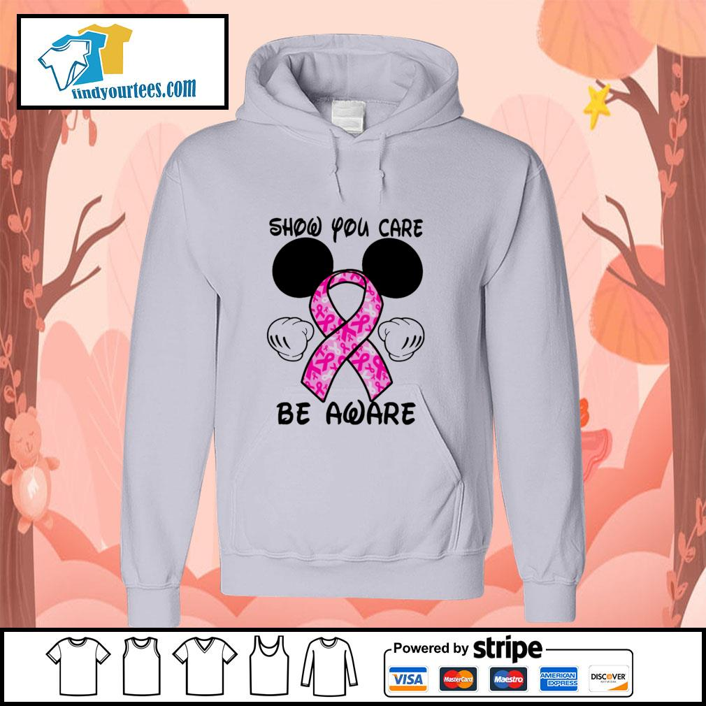 Mickey mouse show you care be aware breast cancer hoodie