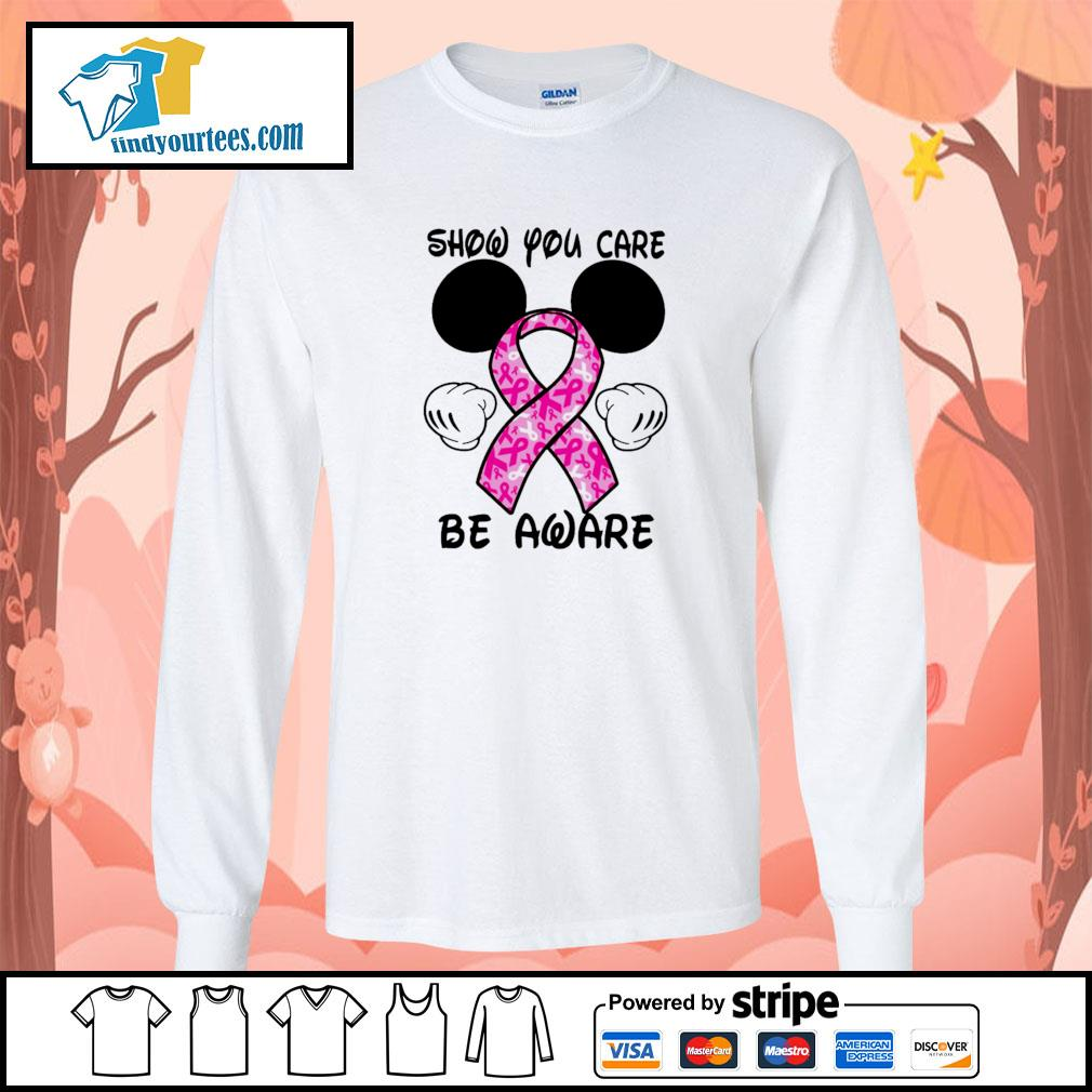 Mickey mouse show you care be aware breast cancer longsleeve-tee