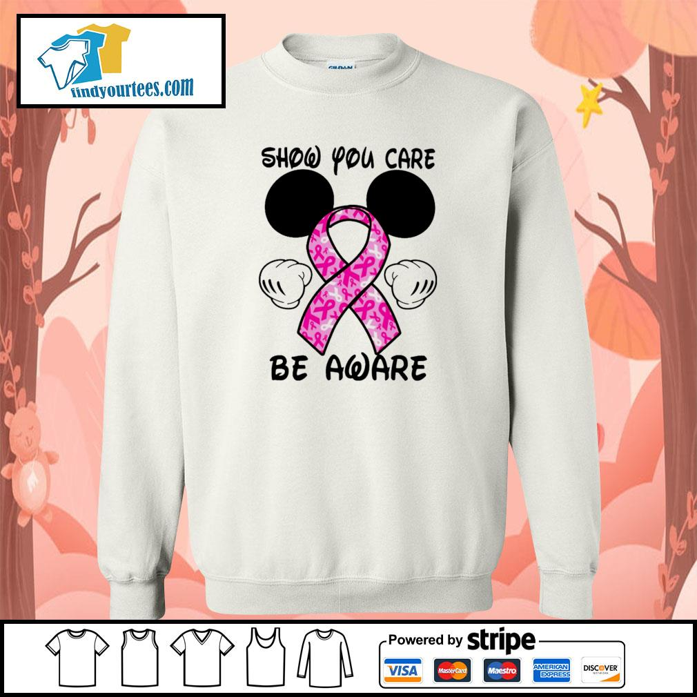 Mickey mouse show you care be aware breast cancer sweater