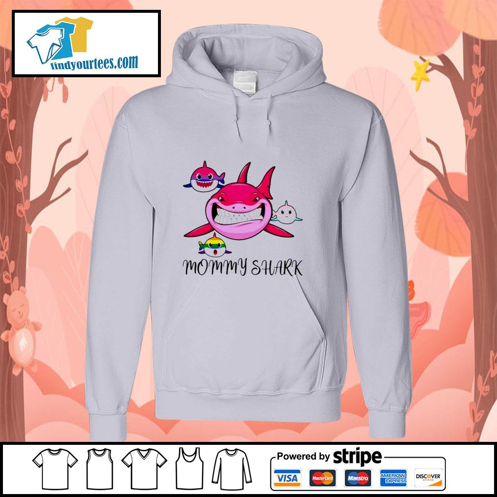 Mommy shark protect child bisexual transgender LGBT s hoodie