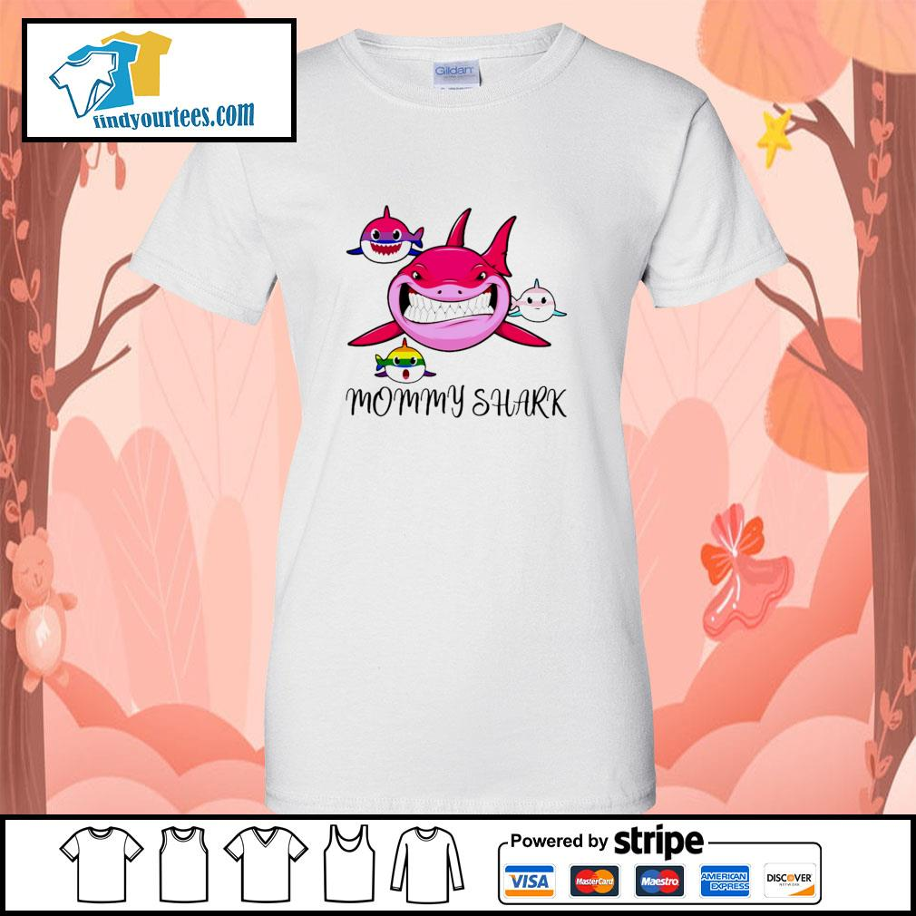 Mommy shark protect child bisexual transgender LGBT s ladies-tee