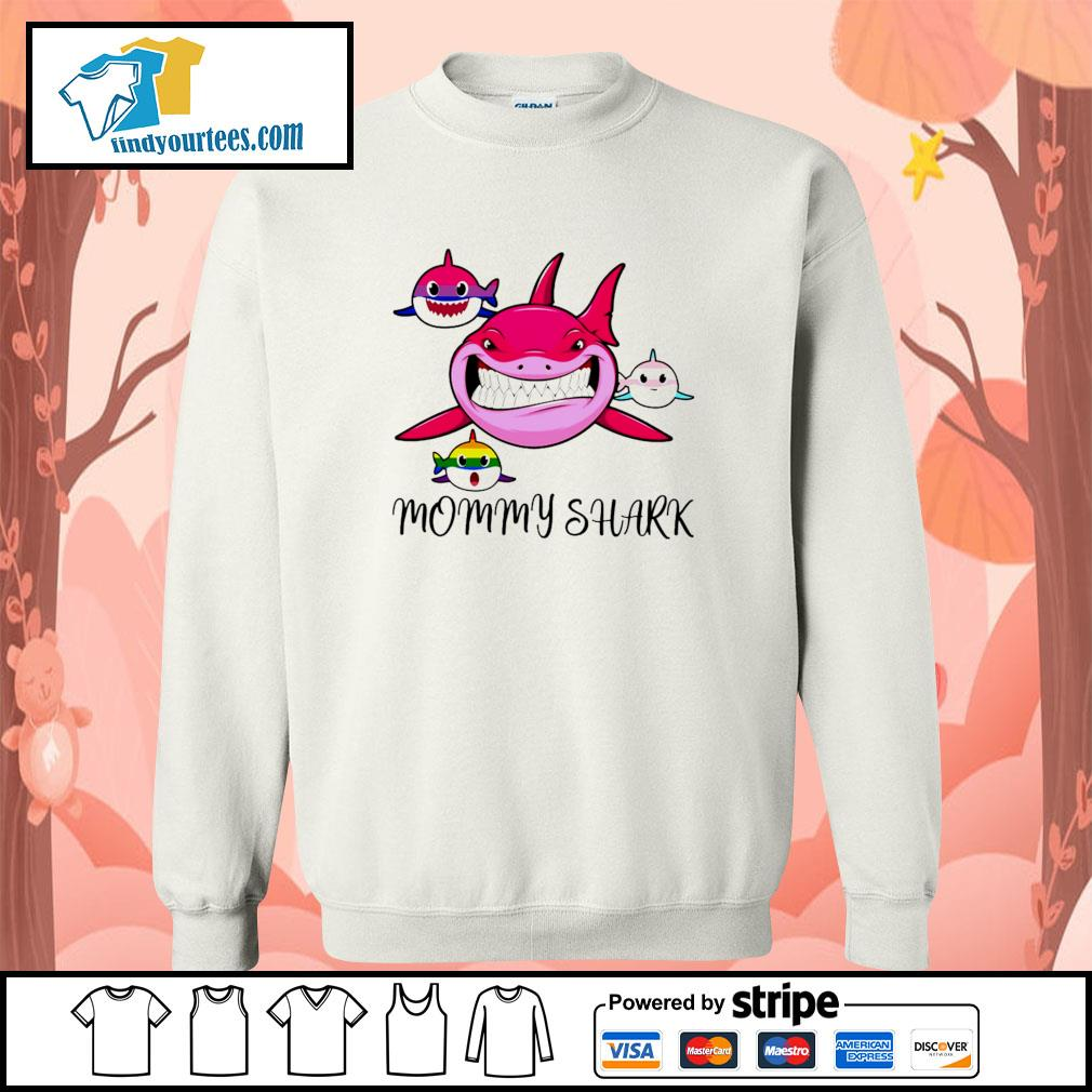 Mommy shark protect child bisexual transgender LGBT s sweater