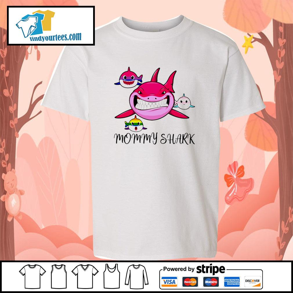 Mommy shark protect child bisexual transgender LGBT s youth-tee