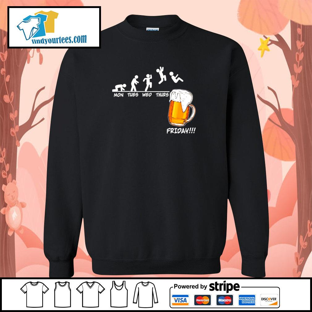 Mon tues wed thurs friday beer s sweater